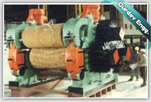 COMPLETE FOUR ROLLER MILL BEING ASSEMBLED AT GURDEV ENGINEERS MACHINE SHOP