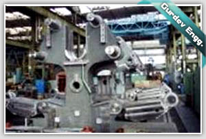 HEAD STOCK OR MILL STAND BEING MACHINED AT GURDEV ENGINEERS MACHINE SHOP
