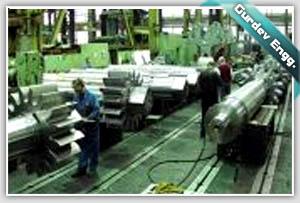 MILL ROLLER SHAFTS AFTER FINAL MACHINING AT GURDEV ENGINEERS MACHINE SHOP