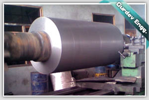 MILL ROLLER BEFORE DISPATCH TO THE CLIENT AT GURDEV ENGINEERS MACHINE SHOP