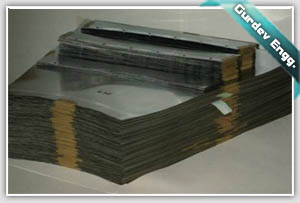 NK 1100 NICKEL SCREEN SETS BEFORE DISPATCH TO CLIENT AT GURDEV ENGINEERS ELECTROFORMING FACILITY.